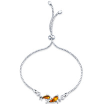 Baltic Amber Dolphin Sterling Silver Adjustable Friendship Bracelet