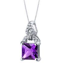 Amethyst Sterling Silver Portico Pendant Necklace