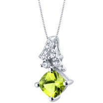 Peridot Sterling Silver Flair Pendant Necklace