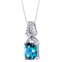 Simulated Alexandrite Sterling Silver Ritzy Pendant Necklace