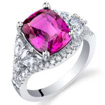 4 Carat Created Purple Sapphire Sterling Silver Legacy Ring Sizes 5 to 9