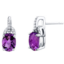 Amethyst Sterling Silver Pirouette Drop Earrings 2.25 Carats Total