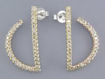 SEMI ANCHOR SET 1/2CT DIAMOND EARRINGS Style E15736
