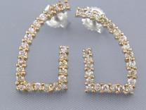 UNUSUAL CUT 0.52CT DIAMOND DROP EARRINGS Style E15742
