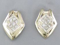 A$2280 CLEAR CUT 0.47CT PRINCESS DIAMOND DROP EARRINGS Style E16078