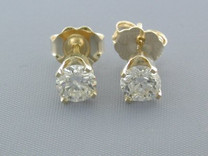 BRILLIANT FIRE 0.55CT DIAMOND STUDS EARRINGS Style E8606