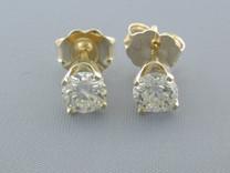 BRILLIANT FIRE 0.55CT DIAMOND STUDS EARRINGS Style E8606