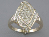 0.48 cts Diamond Cluster Ring 14kt Yellow Gold Style R54028