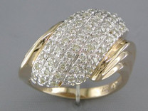 0.51 cts Diamond Cluster Ring 14kt Yellow Gold Style R54030