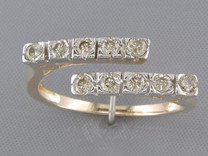 0.50 cts Diamond Cluster Ring 14kt Yellow Gold Style R54036