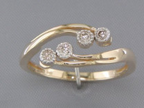 0.15 cts Diamond Cluster Ring 14kt Yellow Gold Style R54048