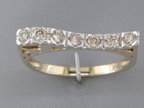 0.33 cts Diamond Cluster Ring 14kt Yellow Gold Style R54056