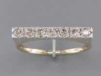0.33 cts Diamond Cluster Ring 14kt Yellow Gold Style R54058