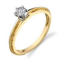 0.25 cts Diamond Solitaire Ring 14Kt Yellow Gold Style R54102