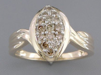 0.50 cts Diamond Cluster Ring 14Kt Yellow Gold Style R54708
