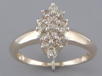 0.50 cts Diamond Cluster Ring 14Kt Yellow Gold Style R54714