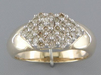 0.66 cts Diamond Cluster Ring 14Kt Yellow Gold Style R54730