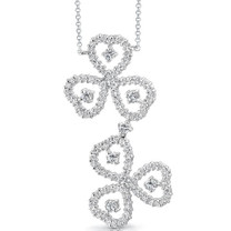 Destined to Dazzle: Round Shape White CZ Gemstone Necklace in Sterling Silver Style SV1544