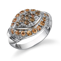 Beautiful Inspiration: Sterling Silver Champagne and Smokey Brown CZ Cocktail Ring Style MDR1210