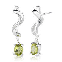 1.50ct Oval Peridot Earrings Style se1710