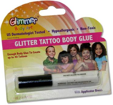 Glitter tattoo body glue mackite for Glitter tattoo glue