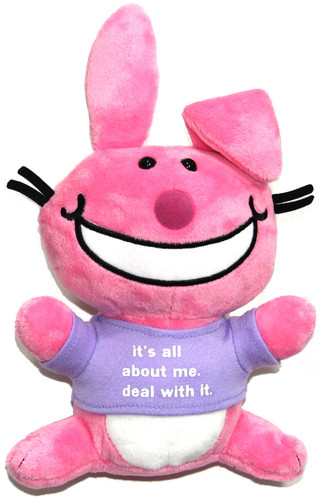 "Happy Bunny- ""It's all about me. Deal with it."" Plush"