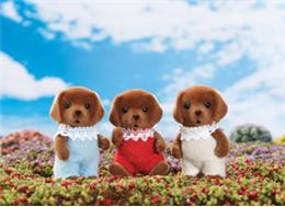 Calico Critters Chocolate Lab Triplets