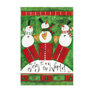 Joy to the World Snowmen Banner