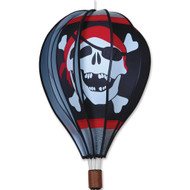 "22"" Hot Air Balloon Hanging Spinner - Jolly Roger"