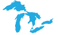 Great Lakes Proud Mini Light Blue Sticker
