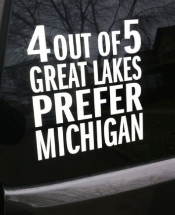 Michigan Awesome 4 out of 5 Great Lakes Prefer Michigan Sticker