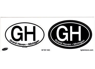 Small Grand Haven Twin Oval Stickers
