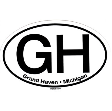 Grand Haven Michigan Large Oval Sticker