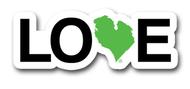 Love Michigan Magnet - Green