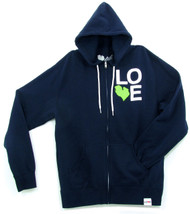 Love MI Zip Hoodie Exclusive - Acid Green - front