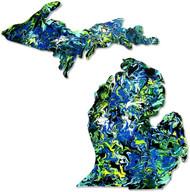 Michigan Art Sticker