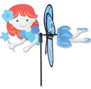 """Blue Fairy 15"""" Garden Spinner"""