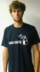 Michigan Awesome Hand Crafted Tee: Navy
