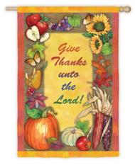 Give Thanks Garden Banner