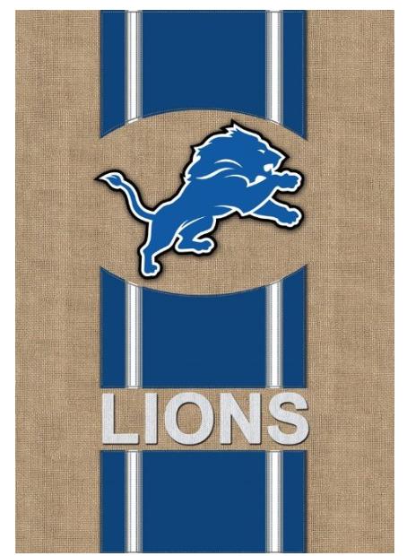 Detroit Lions Burlap Garden Banner