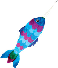36in Blue Fish Windsock
