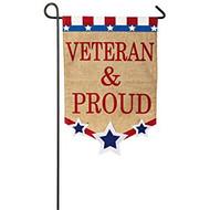 Veteran and Proud Garden flag