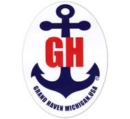 Grand Haven Anchor Sticker