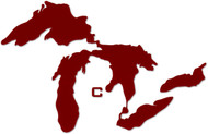 "5"" Great Lakes Proud CMU Location Sticker"