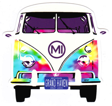 Tie Dye VW Bus GH Sticker