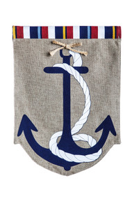 Anchor Burlap Garden Flag (12.5in x 18.5in)
