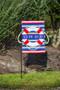 Welcome Aboard Burlap Garden Flag Display