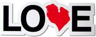 Love Michigan Magnet - red