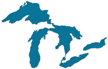 Great Lakes Proud sticker - light blue