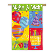 Make a Wish Birthday House Banner